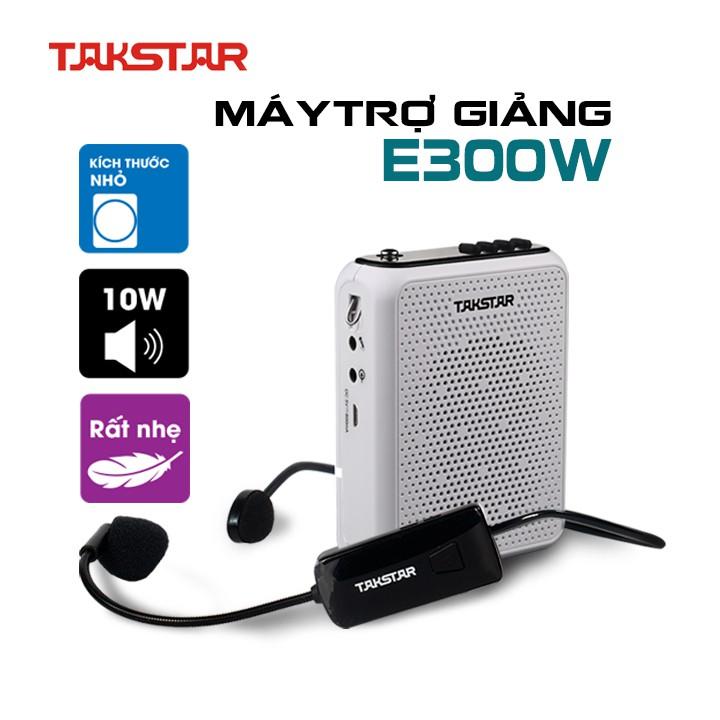 Loa máy trợ giảng không dây Takstar E300W sử dụng sóng cao cấp UHF, bluetooth, ghi âm, công suất lớn
