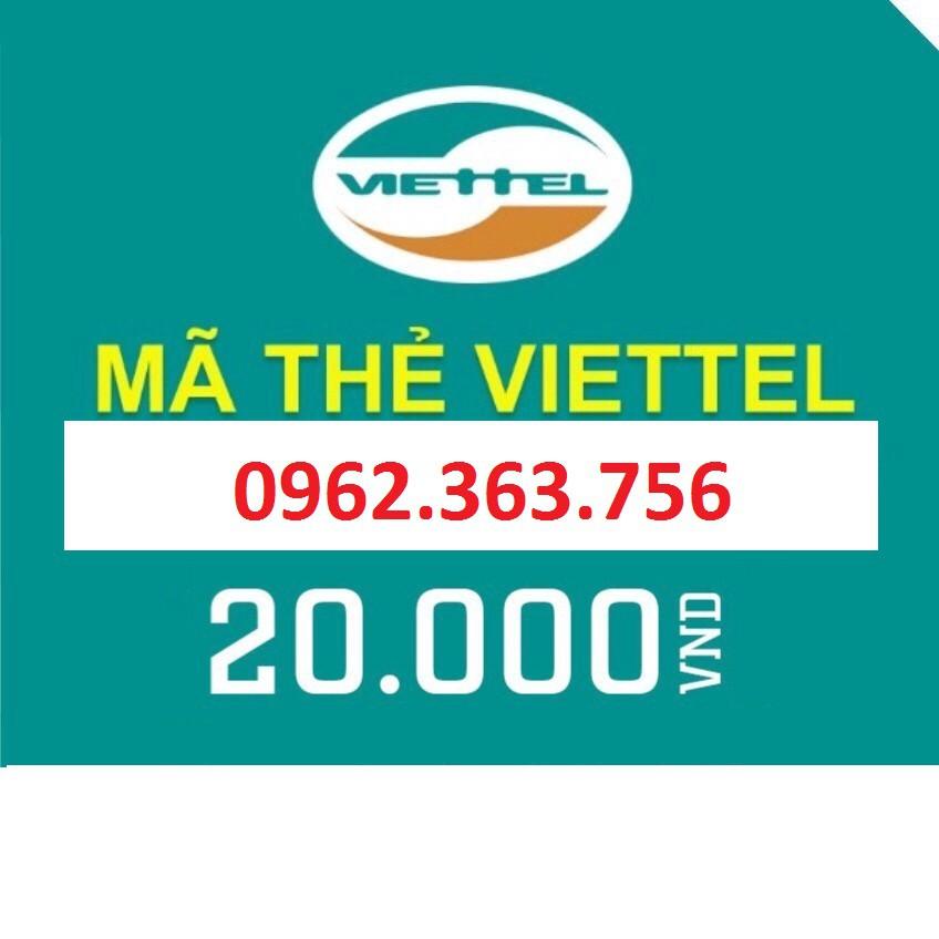 Thẻ Viettel 20K , thẻ nạp Viettel , card điện thoại Viettel , thẻ cào Viettel (có seri) - 2465727 , 1084145263 , 322_1084145263 , 20000 , The-Viettel-20K-the-nap-Viettel-card-dien-thoai-Viettel-the-cao-Viettel-co-seri-322_1084145263 , shopee.vn , Thẻ Viettel 20K , thẻ nạp Viettel , card điện thoại Viettel , thẻ cào Viettel (có seri)