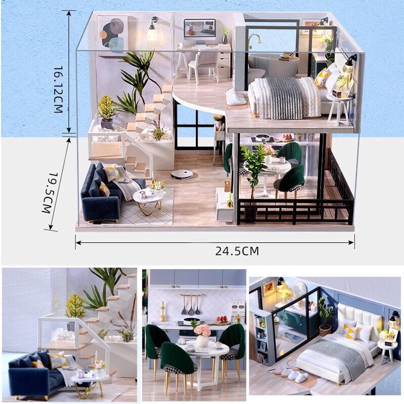 Mô hình nhà gỗ búp bê Dollhouse DIY – L032 The Satisfied Time