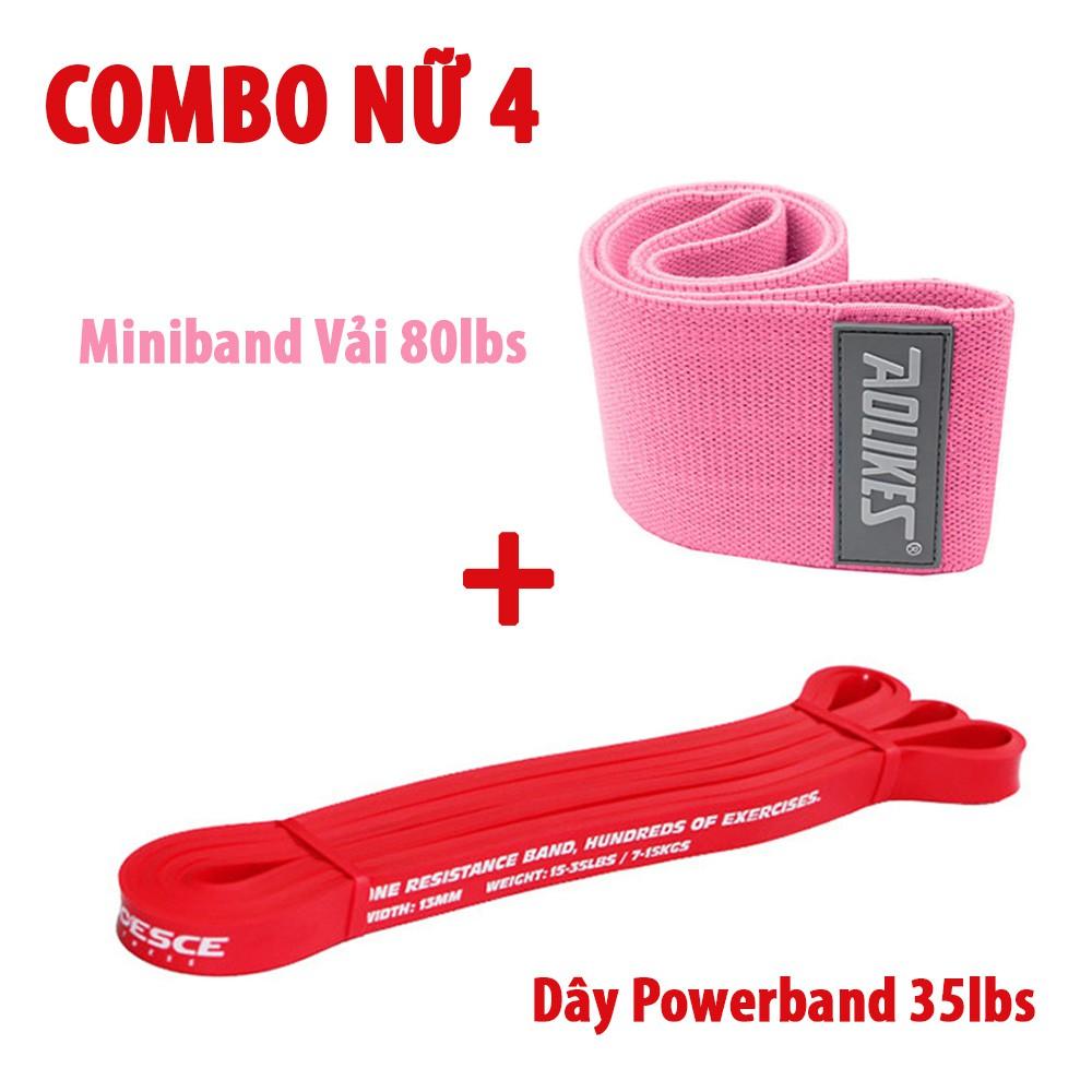 [Combo] Dây Kháng Lực Tập Mông Miniband ⚡FREE SHIP⚡ Dây Tập Toàn Thân Powerband Cho Nữ