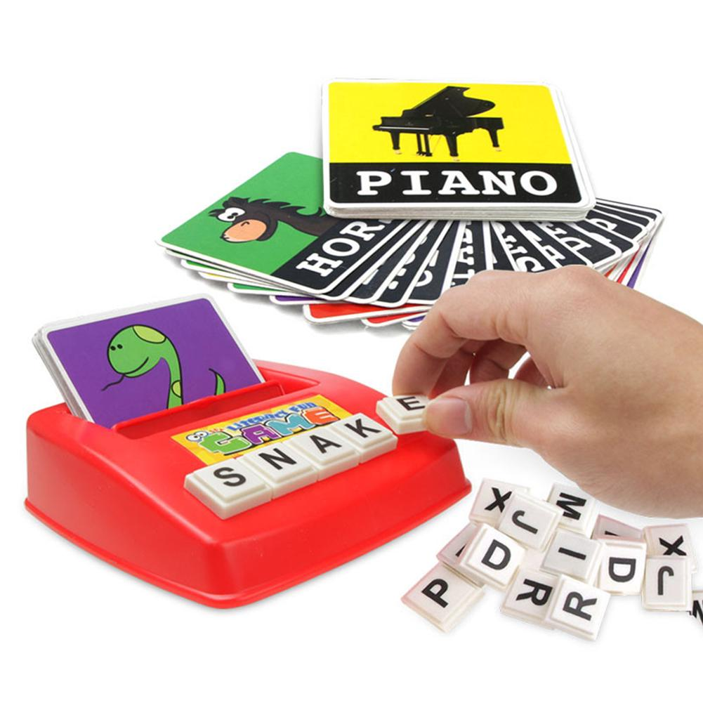 Alphabet Letters Figure Spelling Games Cards English Word Puzzle Children's Educational Literacy Fun Early Learning Toys