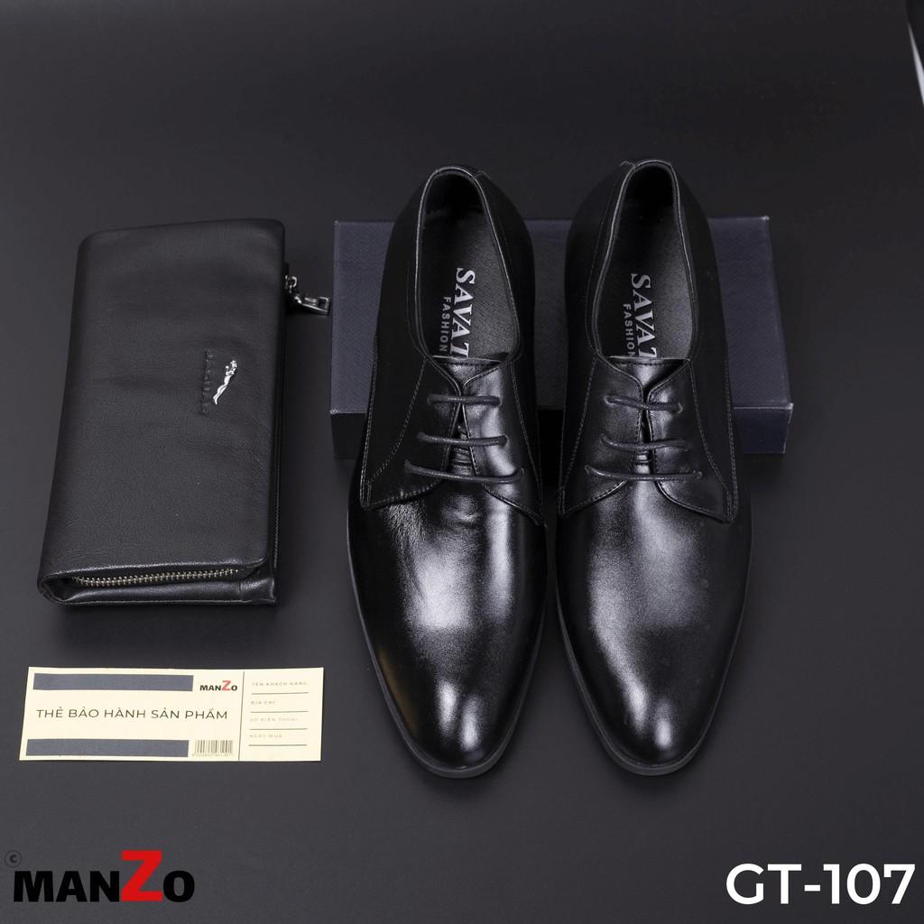 [DA THẬT] GIÀY NAM CAO CẤP CÔNG SỞ - GIÀY TÂY DÂY BUỘC NAM BẢO HÀNH 12 THÁNG TẠI MANZO STORE - GT107