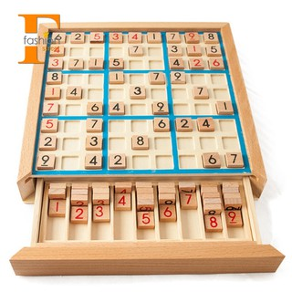 ~stock~Sudoku Chess Digits 1 To 9 Intelligent Fancy Educational Wood Toys