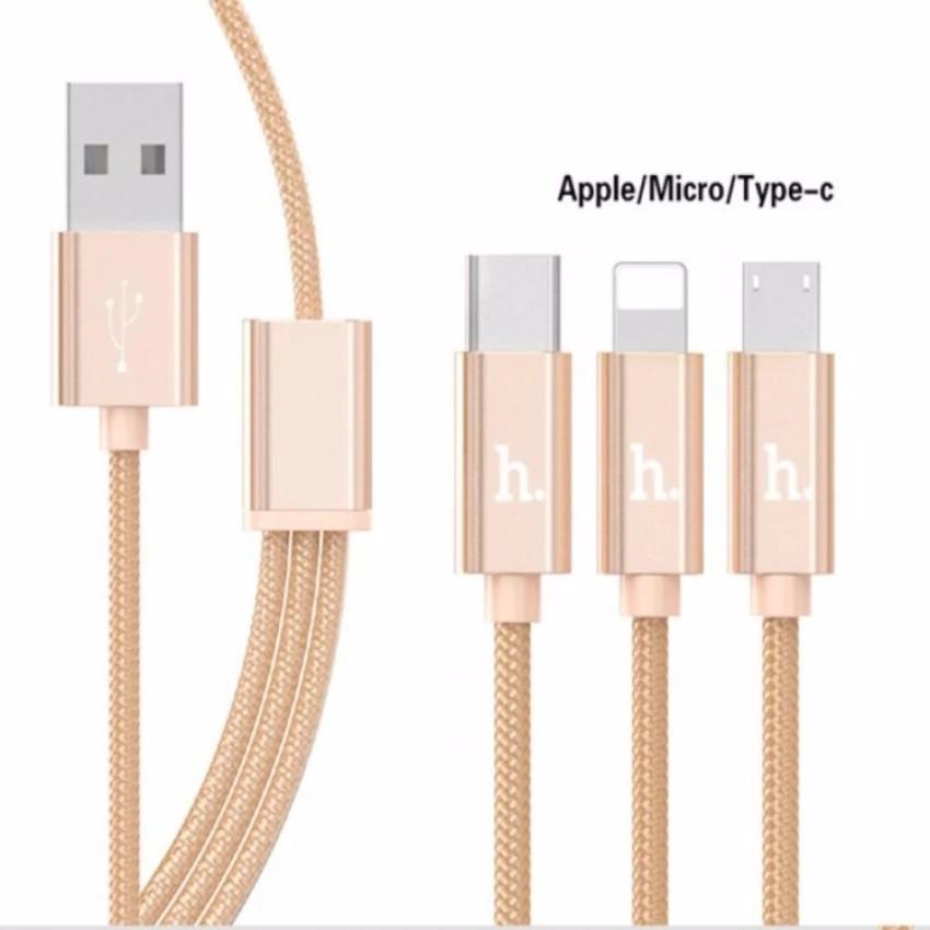 Cáp Sạc Hoco X2 3 Đầu Lightning , Micro Usb, Type C - chính hãng dùng với mọi thiết bị điện thoại androi iphone ipad - 14079666 , 2007200095 , 322_2007200095 , 55550 , Cap-Sac-Hoco-X2-3-Dau-Lightning-Micro-Usb-Type-C-chinh-hang-dung-voi-moi-thiet-bi-dien-thoai-androi-iphone-ipad-322_2007200095 , shopee.vn , Cáp Sạc Hoco X2 3 Đầu Lightning , Micro Usb, Type C - chính