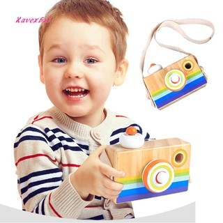 XA_Funny Wooden Hanging Camera Toy Mini Early Education Baby Kids Birthday Gift