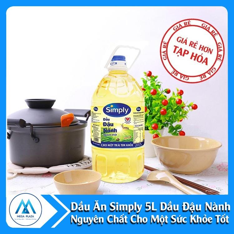 [Giao HN] Dầu ăn Simply 5L - Dầu đậu nành nguyên chất cho một sức khỏe tốt DTA