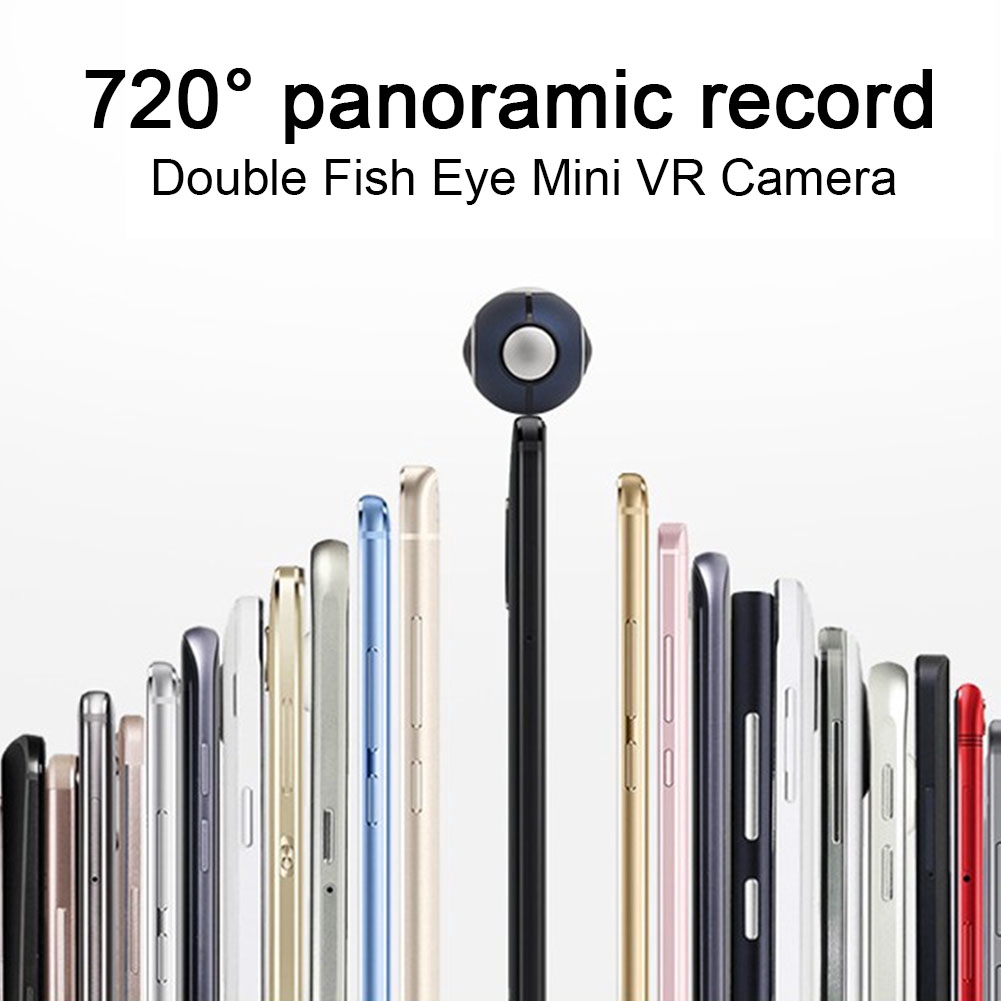 720 Degrees VR Panoramic High Definition Sports External Double Fish Eye Phone Accessories Camera Selfie Android