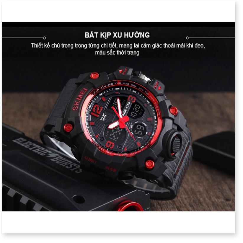 Đồng hồ điện tử nam SKMEI 1155B thể thao chính hãng đa chức năng chống nước cực tốt chống va đập siêu bền SME25