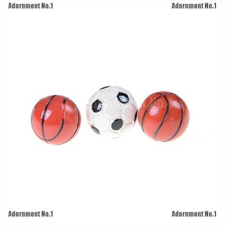 [AdornmentNo1] 1:6/1:12 Dollhouse Miniature Sports Balls Soccer Football and Basketball Decor