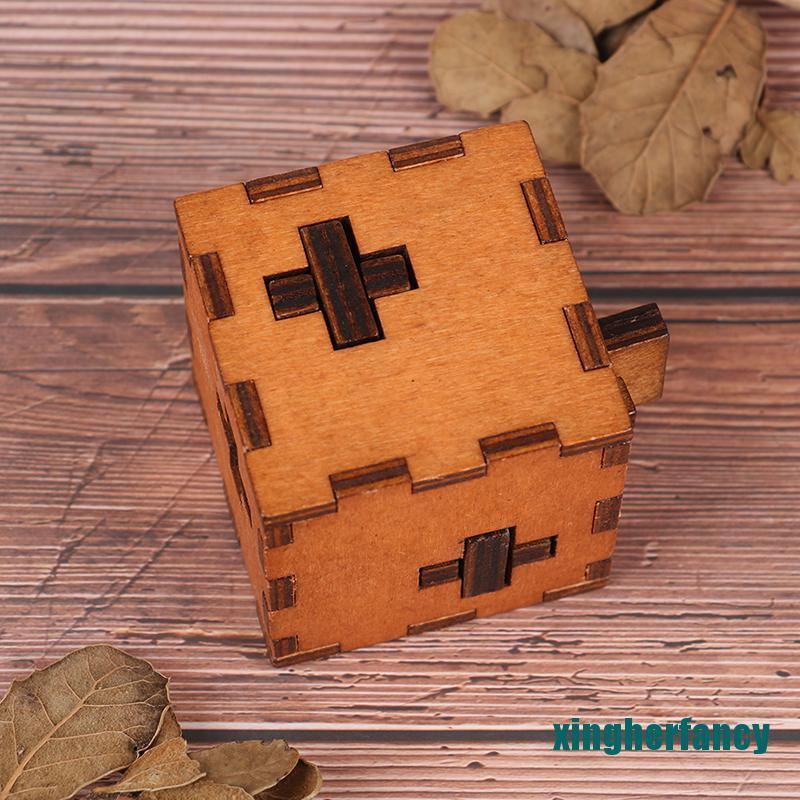 XYCC Switzerland Cube Wooden Secret Puzzle Box Wood Toy Brain Teaser Toy For Kids XJSS