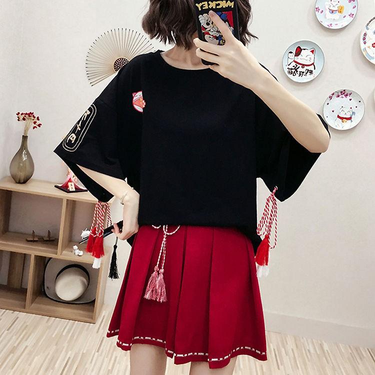 Áo thun ngắn tay phong cách Nhật Bản trẻ trung dành cho nữ - 22469193 , 2574125028 , 322_2574125028 , 108000 , Ao-thun-ngan-tay-phong-cach-Nhat-Ban-tre-trung-danh-cho-nu-322_2574125028 , shopee.vn , Áo thun ngắn tay phong cách Nhật Bản trẻ trung dành cho nữ