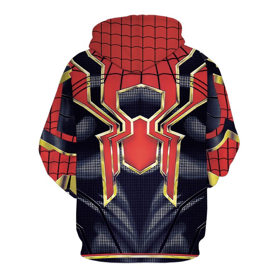 Áo nam chui đầu Spider Man  - Áo khoác nỉ - Áo khoác ấm