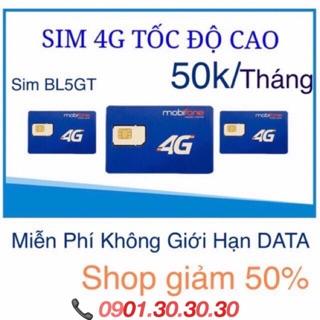 Sim MObifone BL5GT dùng không giới hạn dung lượng và băng thông