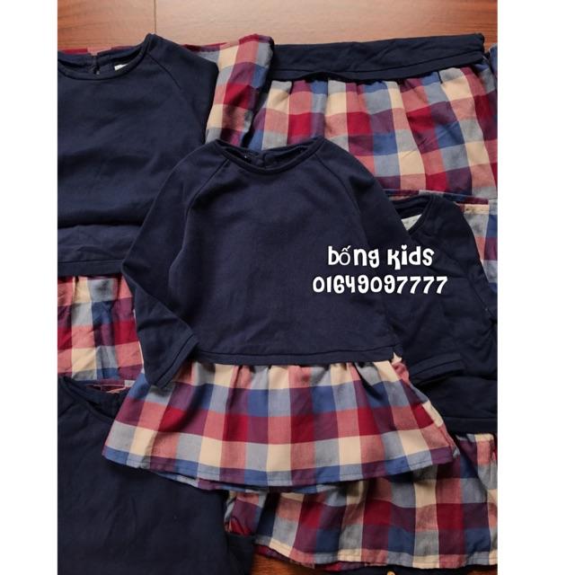 Váy Nỉ Bé Gái Navy Phối Sọc Zara