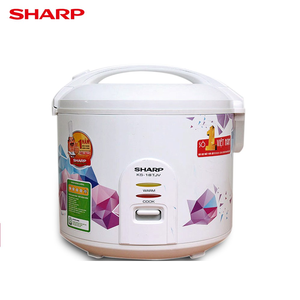 Nồi cơm điện Sharp 1.8 lít KS-18TJV ( Mẫu Ngẫu Nhiên)