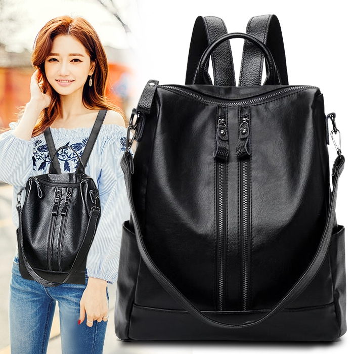 ㍿▽♦Shoulder bag women's European and American trend Hundred college wind large capacity fashion leisure travel bags