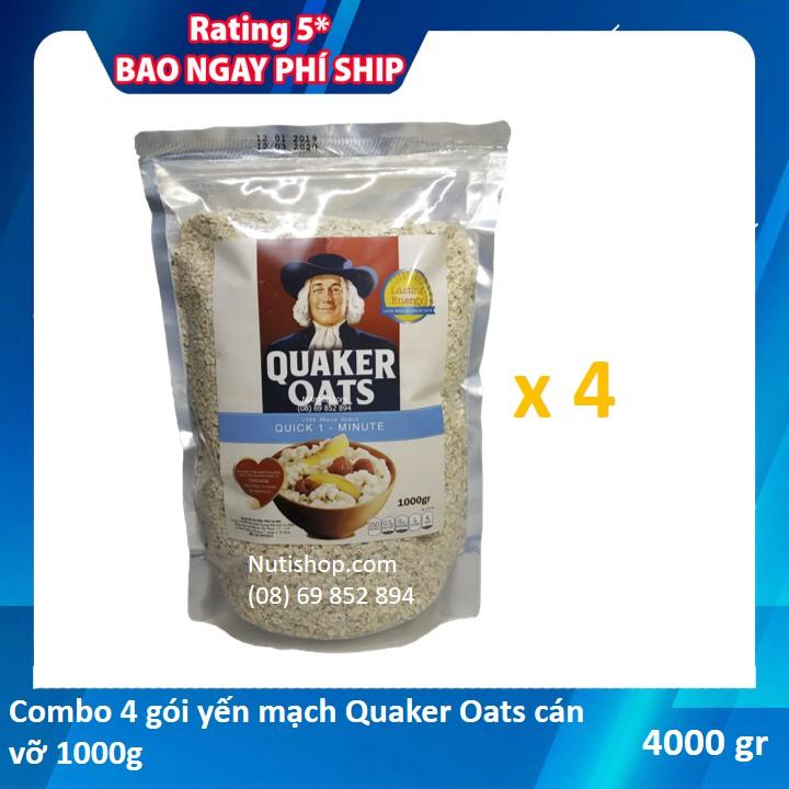 [FREESHIP200K][Combo 4 kg yến mạch Quaker Oats 1kg]