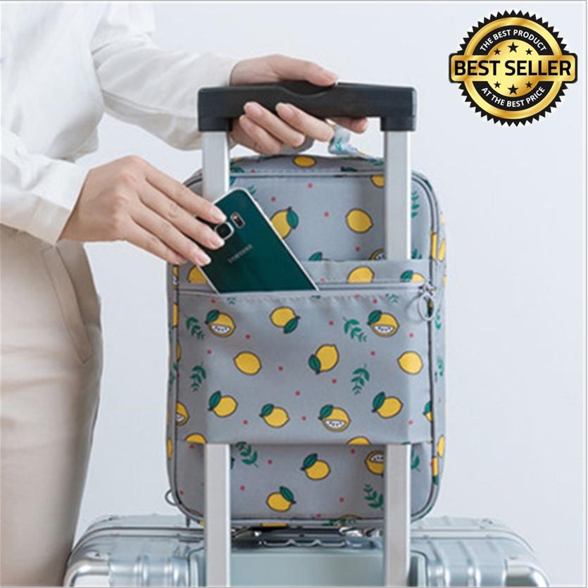 Túi đựng giày 3 ngăn có ĐAI SAU cài tay kéo VALI du lịch cực tiện dụng KDR-NC275 KODOROS