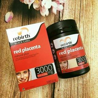Viên uống nhau thai cừu đỏ rebirth red placenta 3000mg thumbnail