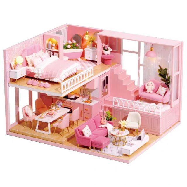 Kèm Mica – Mô hình nhà gỗ búp bê dollhouse DIY – L030 My Little Warm Moment