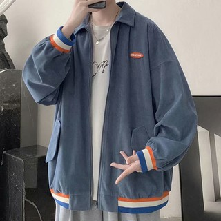 Jacket men's baseball uniform Harajuku style Korean style trend loose bomber jacket