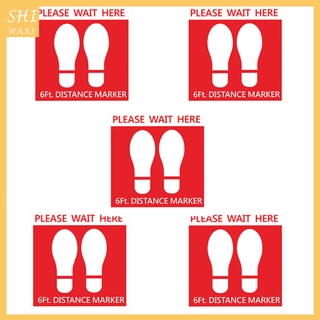[In Stock]Social Distancing Floor Decals Keep Distance Sign Maintain Distance Marker A