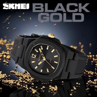 Đồng hồ Quartz SKMEI 1717 chống thấm nước thiết kế đơn giản với dây đeo bằng silicon thời trang cho nam và nữ