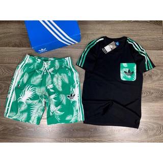 (Free Ship) Bộ thể thao mùa hè adidas cây dừa