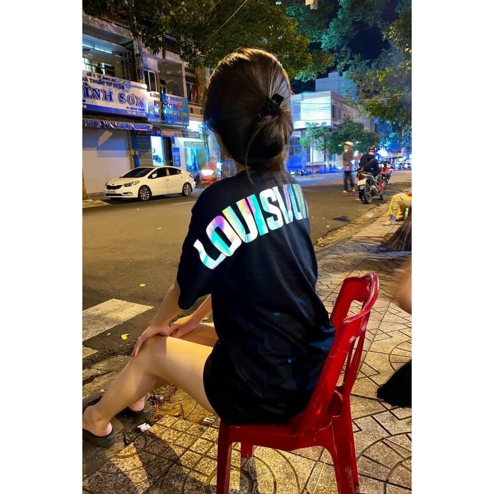 [ảnh Thật] Áo Thun Tay Lỡ Nam Nữ LuonVuiTuoi Phản Quang Ngang Lưng dáng unisex basic Siêu Đẹp - áo phông rộng 360