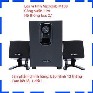 [Mã ELDEC10K giảm 10K đơn 20K] Loa vi tính Microlab M108 2.1 - Màu đen - Cam Kết Chính hãng - BH 12 tháng thumbnail