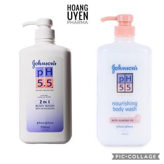 Sữa tắm Johnson's dầu hạnh nhân/ 2 in 1 pH 5.5 - Chai 750ml