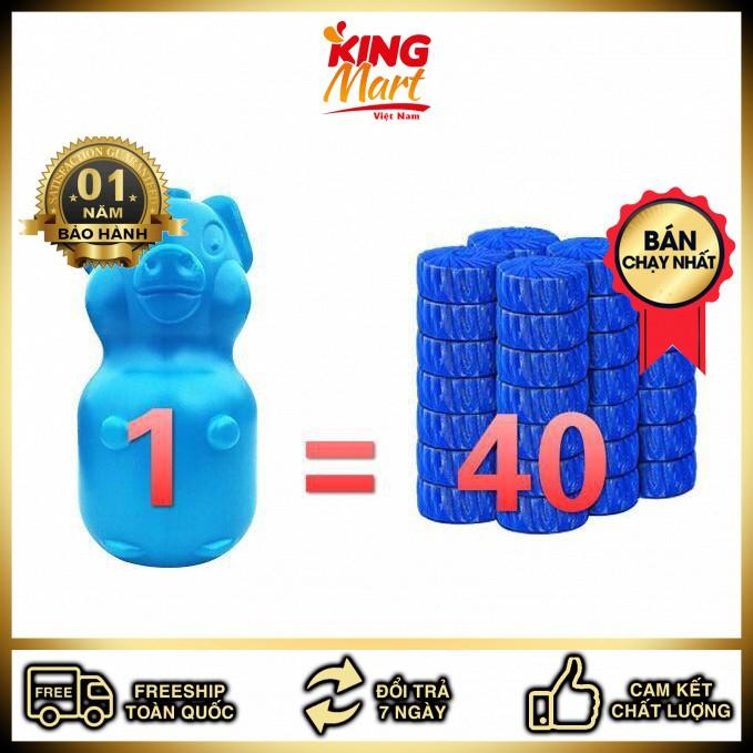 Viên thả bồn cầu hình con lợn(Kingmart68)
