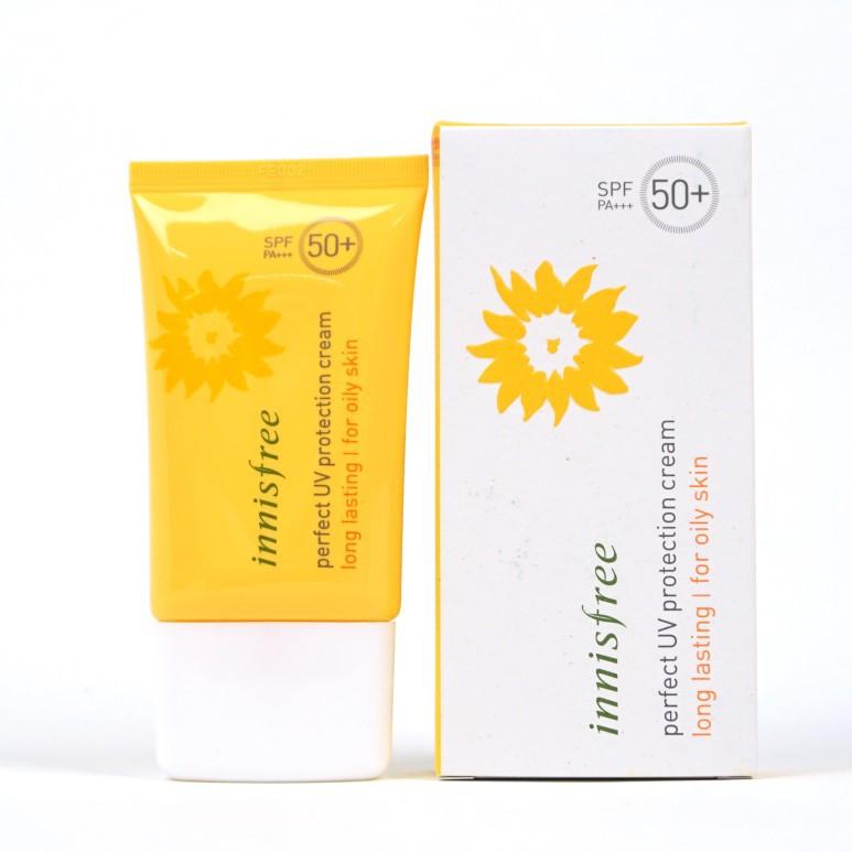 Kem chống nắng dành cho da dầu INNISFREE long lasting SPF 50 +++ (For Oily Skin)