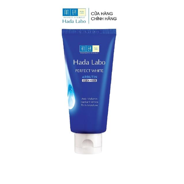 [Mã COSMALL25 -10% ĐH 250K]Kem rửa mặt dưỡng trắng Hada Labo Perfect White Cleanser 80g