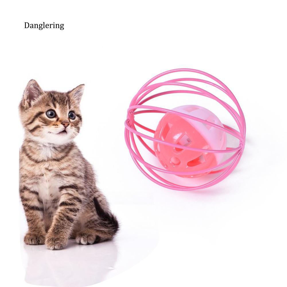 【DGLG】Hollow Ball Bell Sound Making Cat Kitten Interactive Scratch Playing Pet Toy