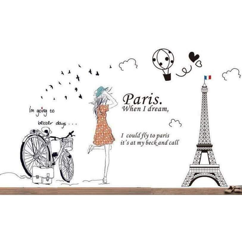 Decal dán tường combo cô gái bên paris - 3595447 , 1097064145 , 322_1097064145 , 70000 , Decal-dan-tuong-combo-co-gai-ben-paris-322_1097064145 , shopee.vn , Decal dán tường combo cô gái bên paris