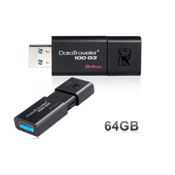 USB Kingston 64GB 3.0 DT100G3 - tem SPC/FPT BH 5...
