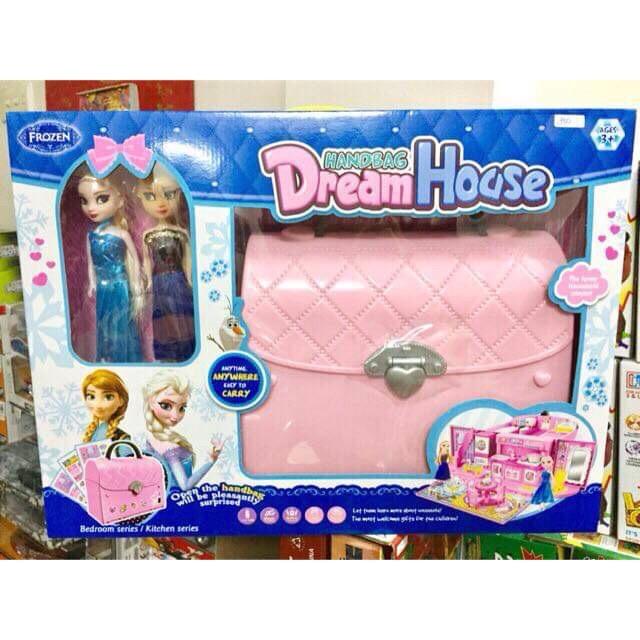 Đồ chơi túi xách ngôi nhà mơ ước Frozen Elsa & Anna