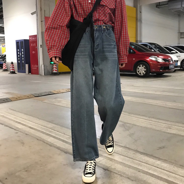 (Good selling point) 2018 new Korean autumn version of self-cultivation loose nine points pants feet r