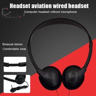 Head-mounted Computer Headset No Microphone Noise Canceling Sports MP3 Earphone