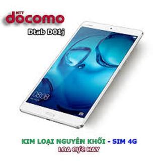 Máy Tính Bảng Huawei Dtab D-01J ( Huawei m3 ) màn hình 2K 8.4inch, ram 3GB, hỗ trợ sim 4G, Chiến PUBG/Free Fire mượt