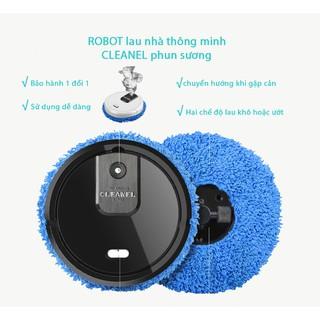 Robot lau nhà _Máy lau nhà tự động CLEANEL thế hệ mới với 3 chức năng lau khô và ướt và phun sương!