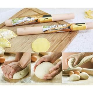 Cây Lăn Bột Gỗ Làm Bánh 27cm B054