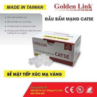 Đầu bấm Mạng UTP Cat5E hộp 100 cái hiệu Golden Link Taiwan thumbnail
