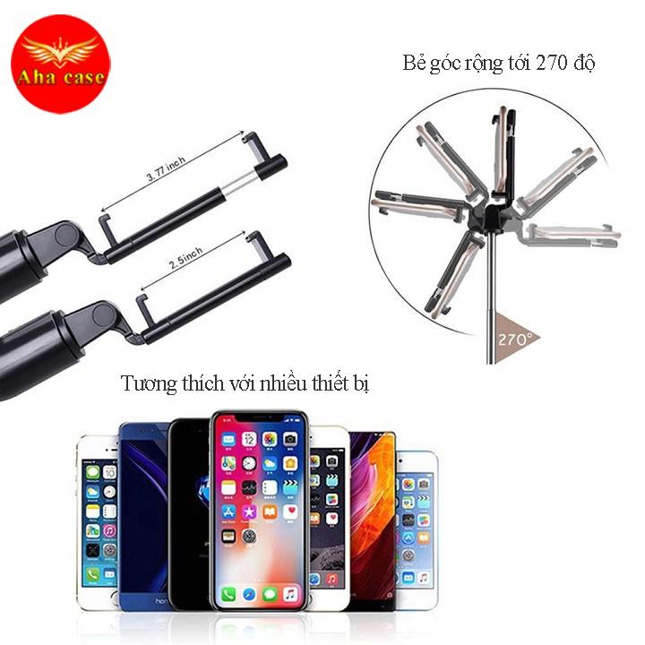 Gậy Chụp Ảnh Tự Sướng Bluetooth Giá Đỡ Điện Thoại 3 Chân Đa Năng – Tripod K07 – Chụp Hình Selfie - Kèm Điều Khiển từ xa