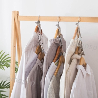 2pcs Hanger Connector Strip Buckle Clothes Rack Closet Organizer Space Saving