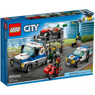 LEGO City 60143 Xe Vận Chuyển Phi Pháp (403 Mảnh Ghép)