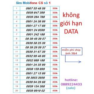 Sim Mobifone số đẹp gói CS 4G vô tư.