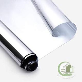 Giấy dán kính một chiều chống nhìn cho cửa - giấy decal dán kính phản quang - khổ 1m có sẵn keo