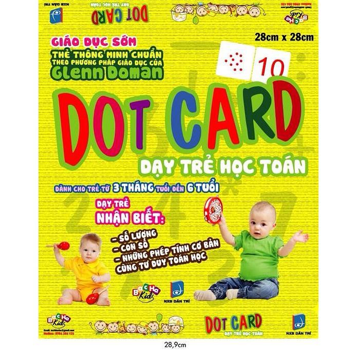 Thẻ Dot Card - Dạy trẻ học toán 1 (dành cho trẻ từ 3 tháng tuổi đến 6 tuổi)